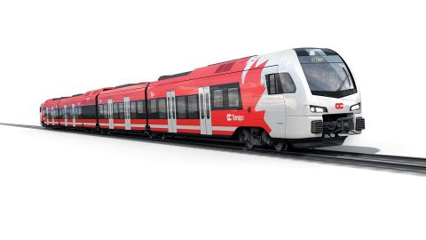 Stadler Flirt train for Ottawa Trillium Line, source: Stadler