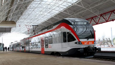 Stadler Flirt train of Minsk City Lines, source: Belarusian Railway