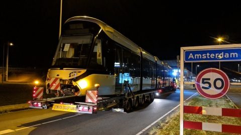 Delivery of Urbos 100 tram to Amsterdam, source: Duco Vaillant & GVB