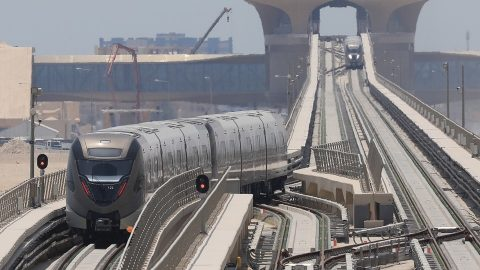 Mitsubishi driverles train in Doha Metro, source: Mitsubishi Corporation