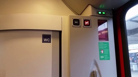 SBB passenger train toilet, source: SBB
