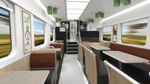 Škoda dining car for VR Group, source: Škoda Transportation