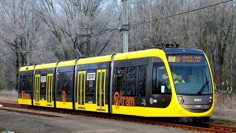 Trials of Urbos 100 tram in Utrecht, source: Wikipedia