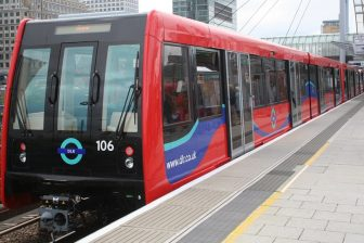B07 train on Docklands Light Railway, source: Wikipedia