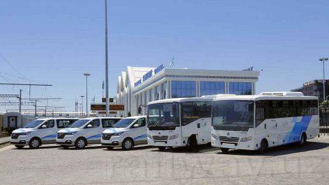 Buses of Uzbekistan Railways, source: Uzbekistan Railways