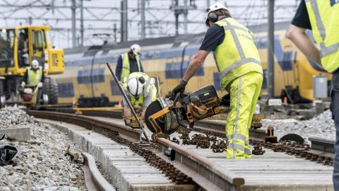 Civil works at Utrecht Centraal station, source: ProRail