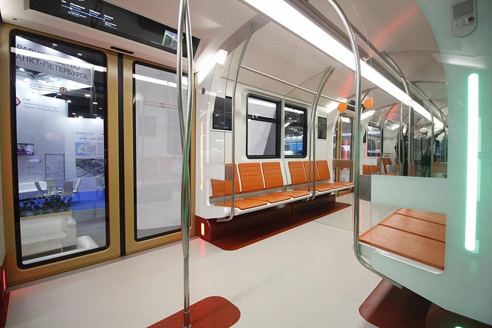 Interior of Transmashholding train concept for Saint Petersburg Metro, source: Transmashholding
