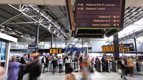 Leeds railway station, source: Network Rail