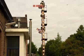 Mechanical semaphore in Belgium, source: Infrabel