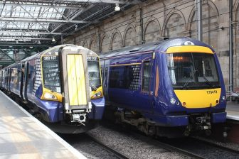 ScotRail trains at Edinburgh railway station, source: Wikipedia