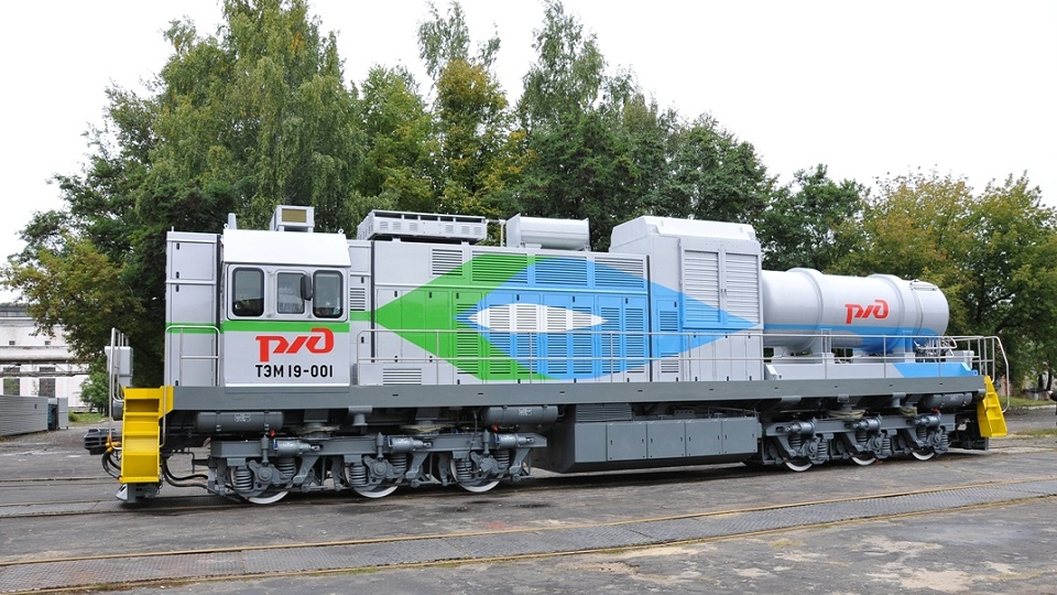 TEM19 LNG-powered locomotive, source: Transmashholding