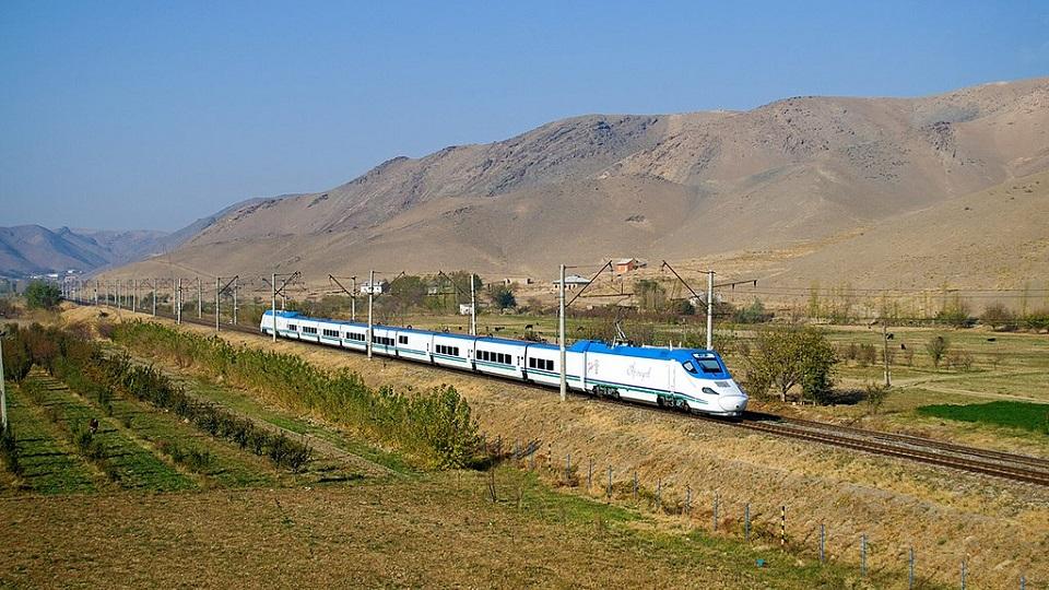 Talgo Afrosiyob high-speed train in Uzbekistan, source: Wikipedia
