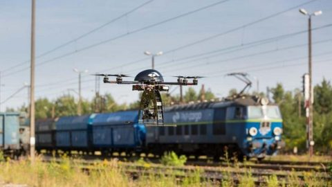 PKP Cargo uses drones, source: PKP Cargo