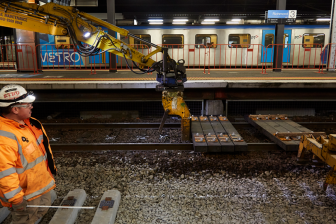 Recycled plastic sleepers at Richmond railway station, Melbourne, source: State Government Victoria