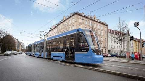 Siemens Avenio tram in Munich, source: Siemens Mobility