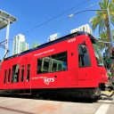 Siemens S70 tram in San Diego, source: San Diego Metropolitan Transit System