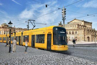 Bombardier Flexity tram for Dresden, source: Bombardier Transportation