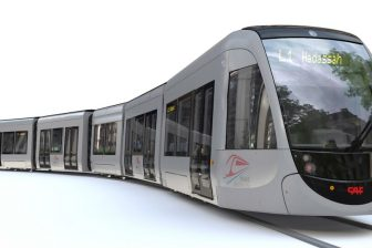 CAF Urbos tram for Jerusalem, source: CAF