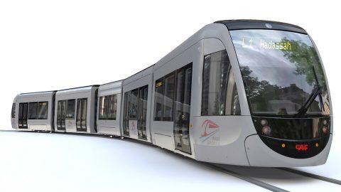 CAF Urbos tram for Jerusalem, source: CAF