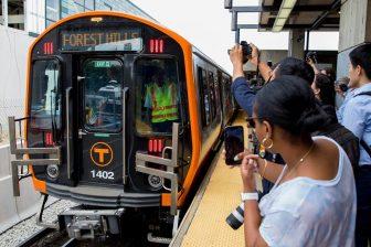 CRRC-made metro train in Boston Subway, source: MBTA