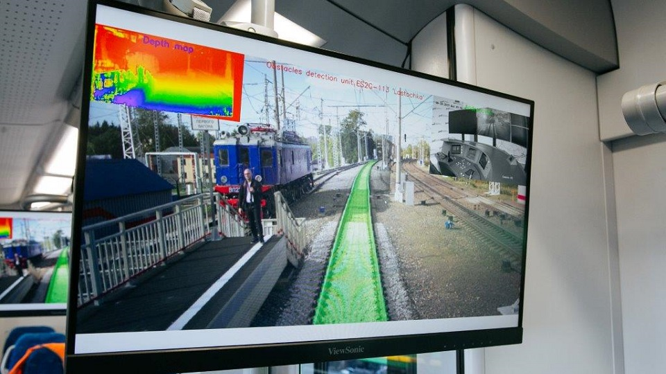 Computer vision of Lastochka autonomous train, source: Sinara Group