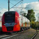 Lastochka autonomous train on Shcherbinka railway test ring, source: Sinara Group