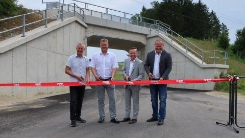 Launch of underpass on Summerau Railway in Upper Austria, source: ÖBB