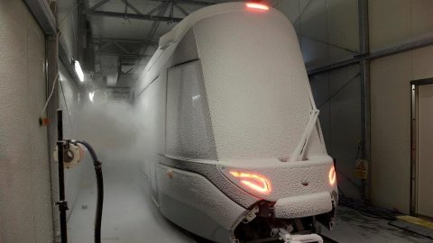 New Urbos tram from Amsterdam under climate tests, source: GVB