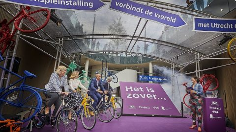 Opening of bicycle parking at Utrecht Centraal station, source: ProRail