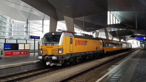 RegioJet train at Vienna Central station, source: RegioJet