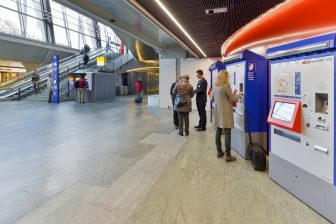 Ticket machines at SBB train station, source: SBB