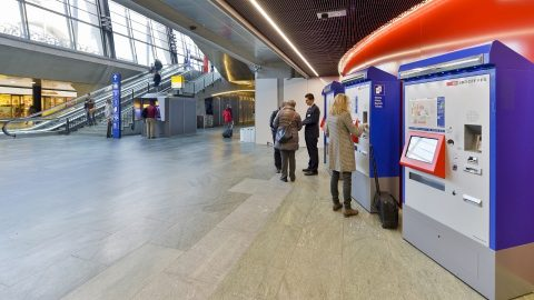 Ticket machines at SBB train station, source: SBB