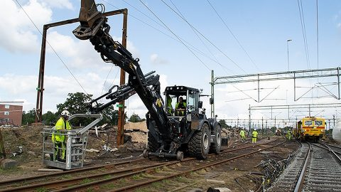 Track restoration in Hässleholm, Sweden, source: Trafikverket