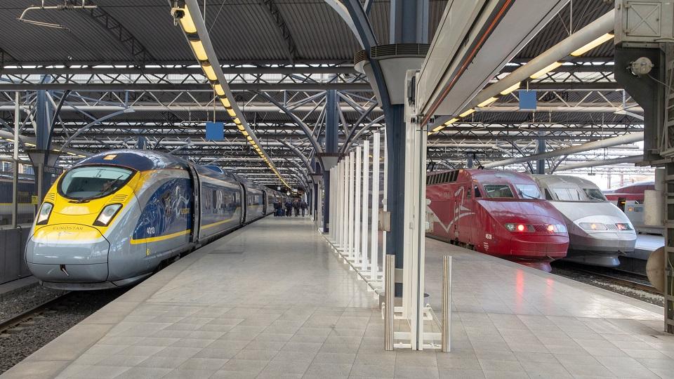 Eurostar, Thalys and TGV trains at Brussel-Zuid station, source: Maarten Otto via Flickr