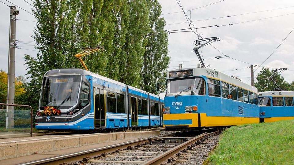 ForCity and Tatra trams in Chemnitz, source: CVAG