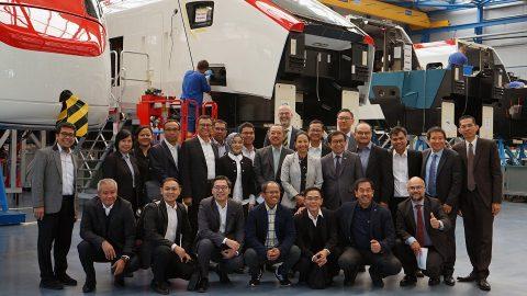 Indonesian delegation at Stadler facility in Switzerland, source: Stadler Rail