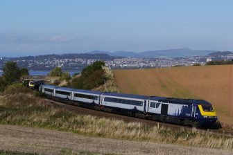 ScotRail train close to Tay Bridge, source: ScotRail