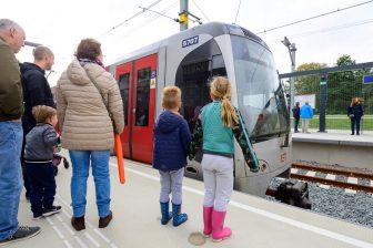 Steendijkpolder metro station of the Hoekse Lijn, source: Rotterdamse Elektrische Tram (RET)