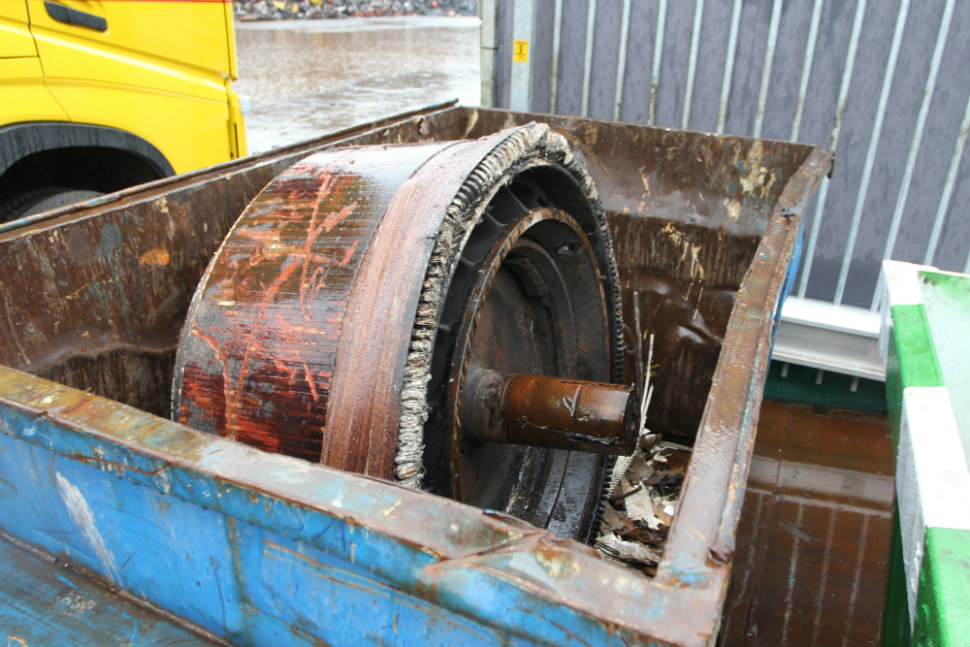 Traction motor of NS Class 1700 locomotive, source: Paul van den Bogaard