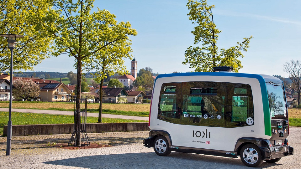 Deutsche Bahn autonomous shuttle, source: ioki