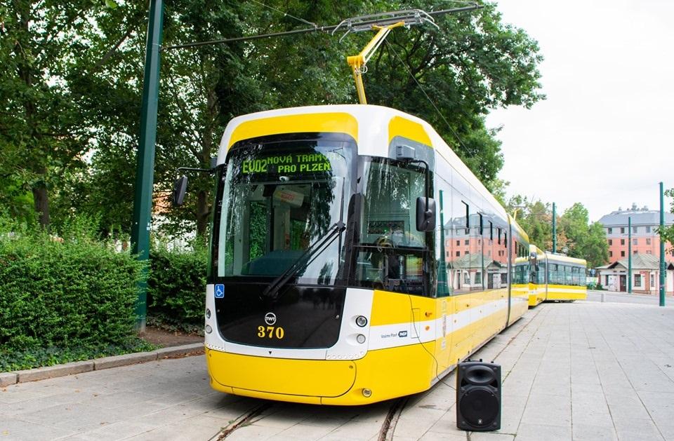 EVO2 tram in Plzen, source: Plzeňské městské dopravní podniky, PMDP