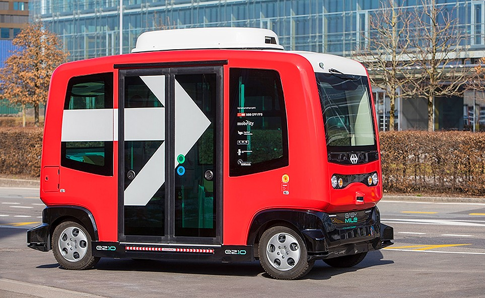 SBB & Mobility Carsharing autonomous shuttle, source: Mobility Carsharing