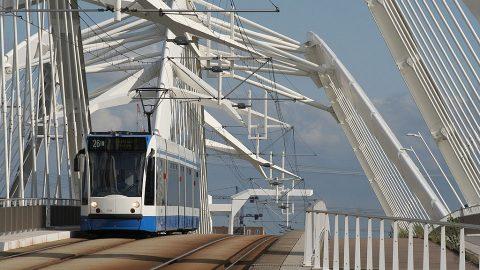 Combino tram runs on Line 26 in Amsterdam, source: GVB