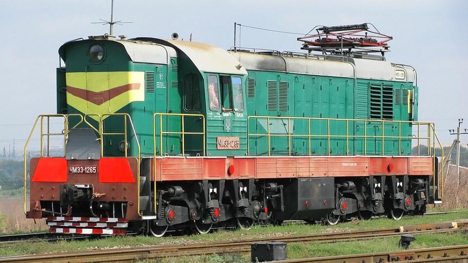 Locomotive with vibropantograph