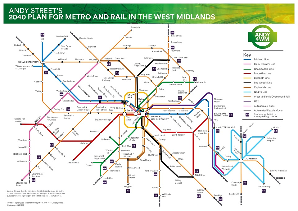 Andy Street's extension plan for West Midlands Metro