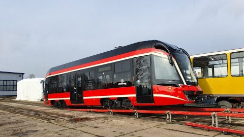Moderus Beta single-section tram for Tramwaje Śląskie