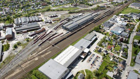 Train depot in Drammen, source: Bane NOR