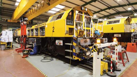 Assembling of Clayton CB40 hybrid locomotives