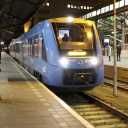Coradia iLint hydrogen train at Groningen station