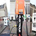 EV charging points at Kyiv-Passenger railway station, source: ElectroUA